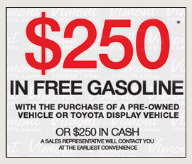 $250 in free gasoline
